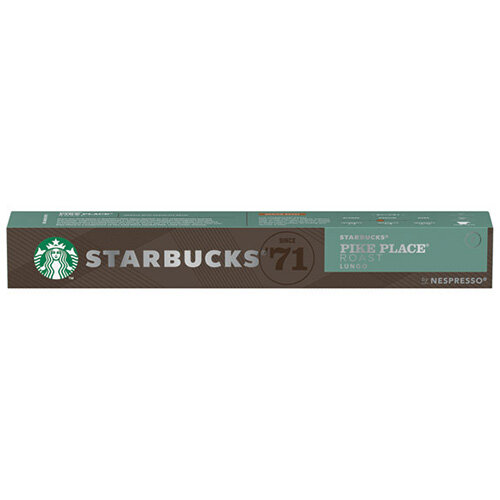 Nespresso Starbucks Pike Place Lungo Coffee Pods Pack of 10 Pods 12423398