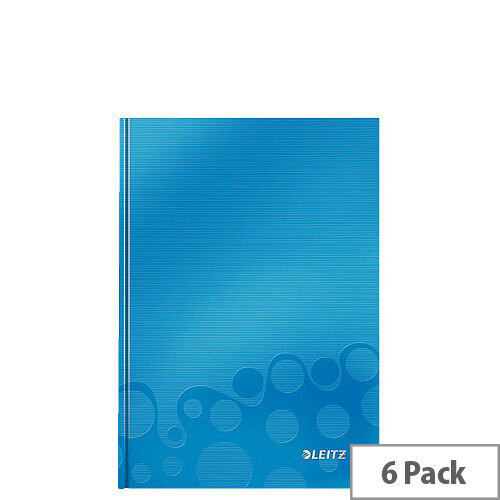 Leitz WOW Hardcover Notebook A5 Blue Pack of 6