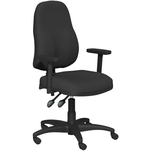 OA Series High Back High Back Operator Office Chair Black Fabric with Height Adjustable Arms