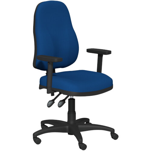 OA Series High Back High Back Operator Office Chair Blue Fabric with Height Adjustable Arms