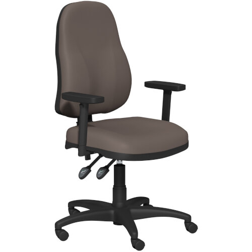OA Series High Back High Back Operator Office Chair Bespoke Lotus PU with Height Adjustable Arms