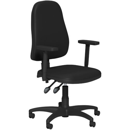 OA Series High Back High Back Operator Office Chair Black Vinyl with Height Adjustable Arms