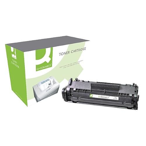 HP 12A Black Laser Toner Cartridge Q-Connect Compatible High Quality Value &Yield, Easy to Install &Use, Accurate &Detailed Printing