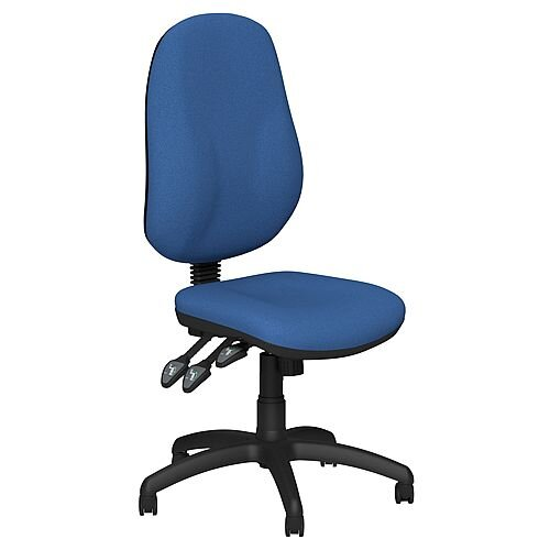 O.B Series Office Chair Fabric Seat Black Base Blue