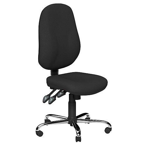 O.B Series Office Chair Fabric Seat Chrome Base Black