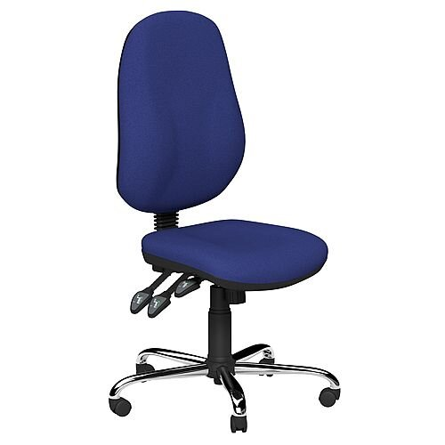 O.B Series Office Chair Fabric Seat Chrome Base Royal Blue