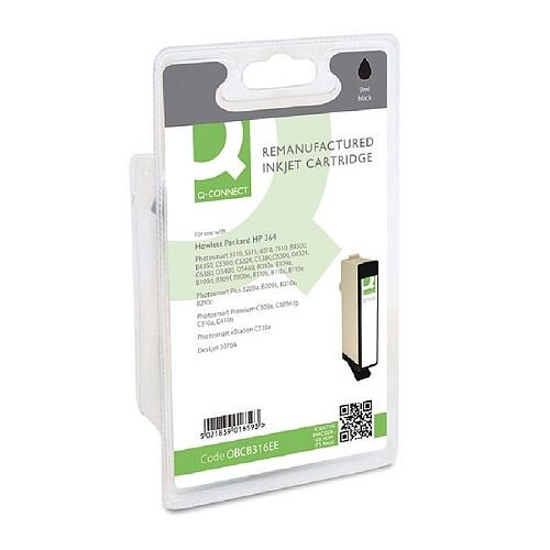 HP No 364 Compatible Black Inkjet Cartridge CB316EE Q-Connect