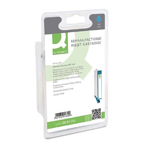 HP No 364 Compatible Cyan Inkjet Cartridge CB318EE Q-Connect