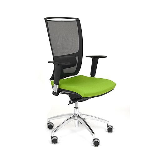 Ergonomic Mesh Task Operator Office Chair With Lumbar Support &Adjustable Arms Black/Green OZ Series