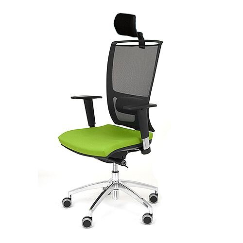 Ergonomic Mesh Task Operator Office Chair With Headrest Lumbar Support &Adjustable Arms Black/Green OZ Series
