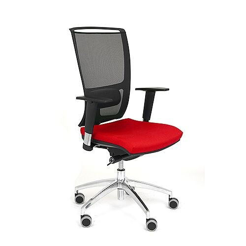 Ergonomic Mesh Task Operator Office Chair With Lumbar Support &Adjustable Arms Black/Red OZ Series