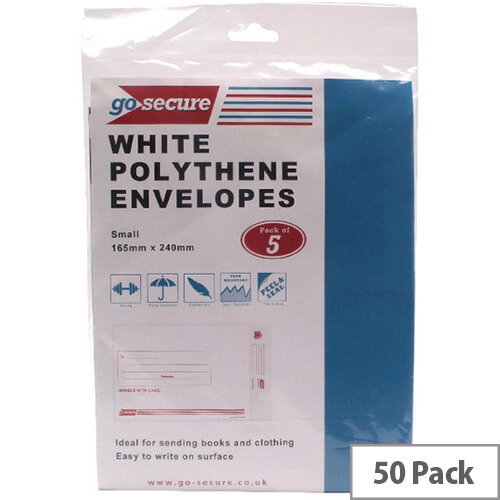 Go Secure Extra Strong Polythene Envelopes 165x240mm Pack of 50 PB08232