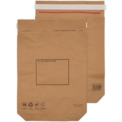 GoSecure Kraft Paper Mailer Bags 420x340x80mm Pack of 100 KMB1164
