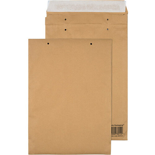 GoSecure Manilla C4 Gusset Pocket Envelope 140gsm Pack of 100 REPDC4