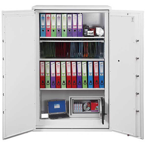 Phoenix Fire Commander FS1914E 626L Fireproof Safe With Electronic Lock White