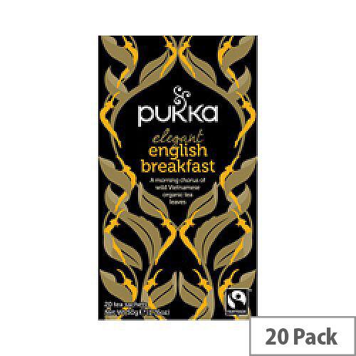 Pukka English Breakfast Fairtrade Organic Tea Bags Pack 20