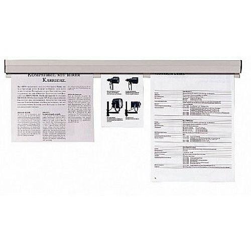 Franken Plastic Paper Holder Rail 150x4cm Grey PKS150