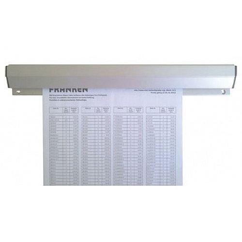 Franken Aluminium Paper Holder Rail 88 x 4cm PKSA88