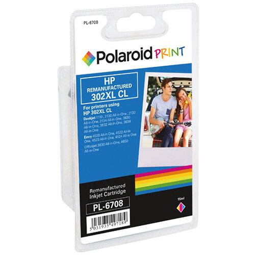Polaroid HP 302 Remanufactured Inkjet Cartridge Tricolour F6U65AE-COMP PL