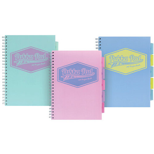 Pukka Pad Pastel Project Book A4 Pack of 3 8630-PST