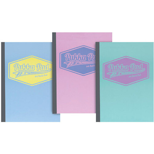 Pukka Pad Pastel Refill Pads A4 Pack of 3 8902-PST
