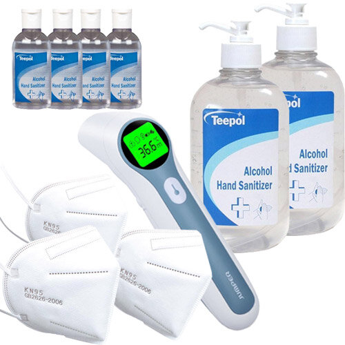 Workplace Covid Ready Pack Small - Thermometer, Mask, Sanitizer