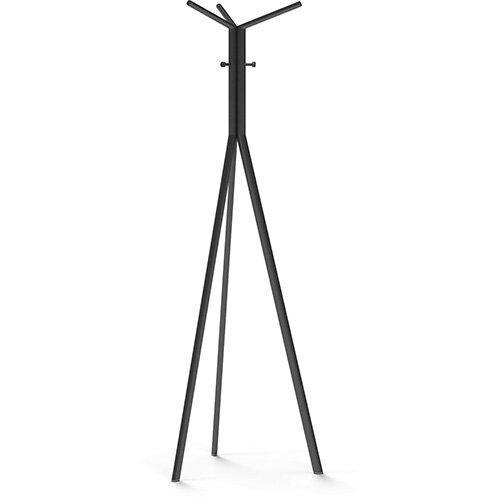 SEVEN Black Coat Stand with Black Hooks