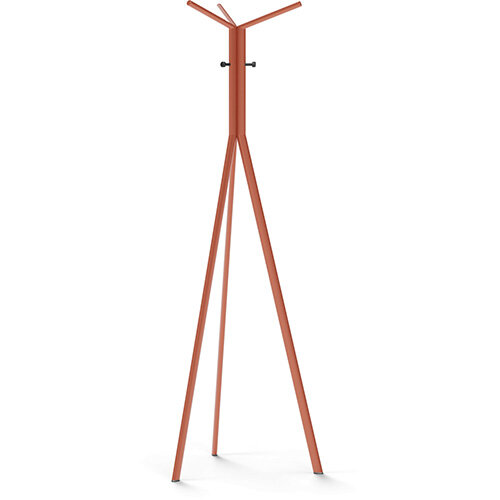 SEVEN Orange Coat Stand with Black Hooks