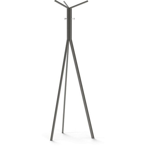 SEVEN Grey Coat Stand with Chrome Hooks