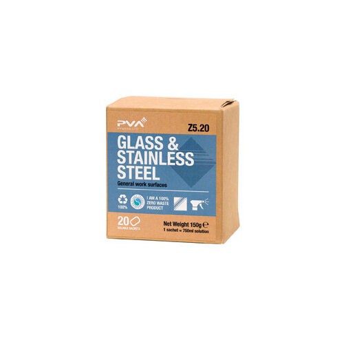 PVA Glass and Stainless Steel Sachets Pack of 20 PVAB5-20