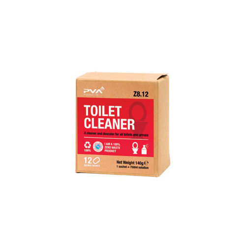 PVA Toilet Cleaner Sachets 1 Litre Pack of 12 PVAA8-12