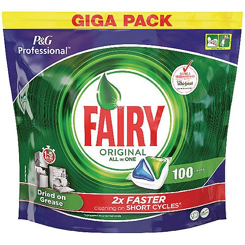 Fairy Original Dishwasher Tablets Pack of 100 8001090215543