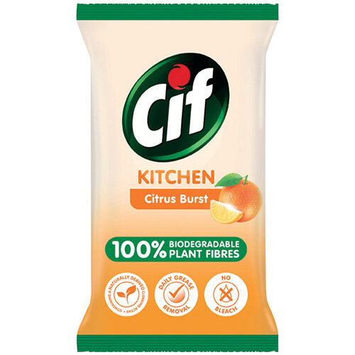 Cif Bio Kitchen Wipes 80 Sheets Pack of 6 C001709