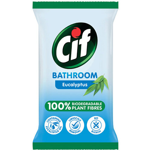 Cif Bio Bath Wipes 80 Sheets Pack of 6 C001710