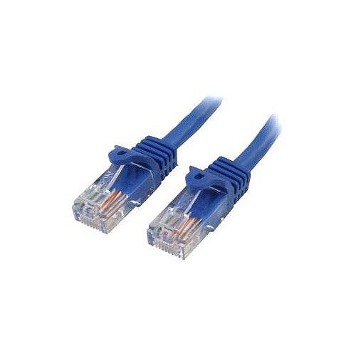StarTech 1 ft Blue Cat5e Snagless RJ45 UTP Patch Cable 1ft Patch Cord Cat 5e 1 ft 1 x RJ-45 Male 1 x RJ-45 Male Blue RJ45PATCH1