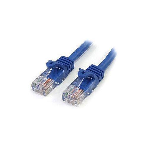 StarTech 5 ft Blue Snagless Cat5e UTP Patch Cable Cat 5e 5 ft 1 x RJ-45 Male 1 x RJ-45 Male Blue RJ45PATCH5