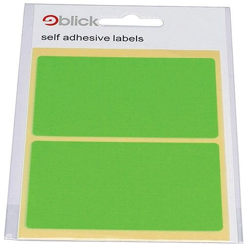 Blick Green Fluorescent Labels in Bags 50x80mm Pack of 160 RS010654