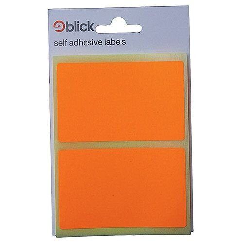 Blick Orange Fluorescent Labels in Bags 50x80mm Pack of 160 RS010852