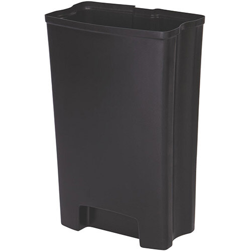 Rubbermaid Slim Jim 50 Litre Front Step Step-On Resin Waste Basket Rigid Liner Black