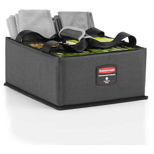 Rubbermaid Quick Cart Caddy For Large &Medium Quick Carts Dark Grey