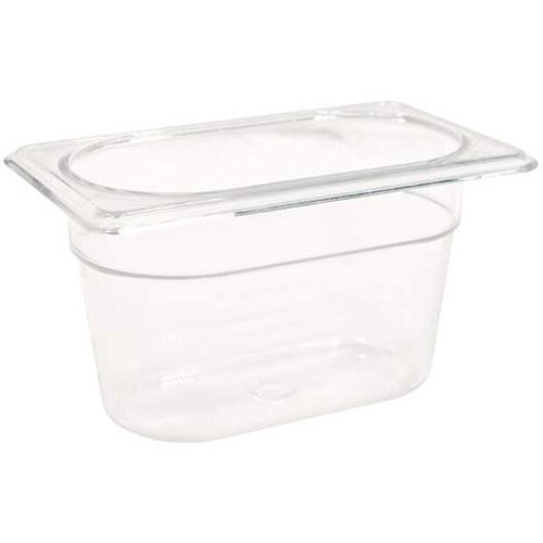 Rubbermaid 1/9 Size 100mm 0.8L Gastronorm GN Food Pan For Cold Food Clear