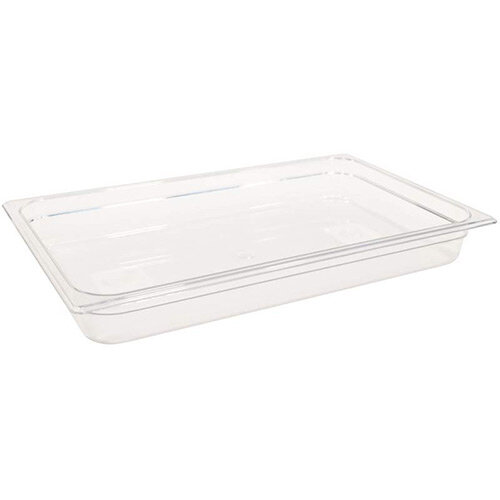 Rubbermaid 1/1 Size 65mm 8.5L Gastronorm GN Food Pan For Cold Food Clear