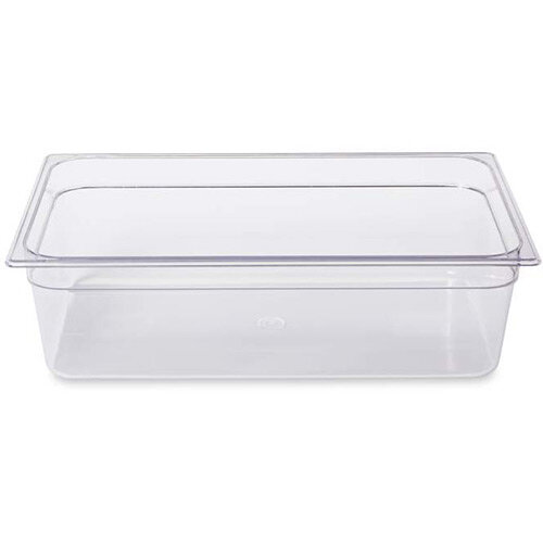 Rubbermaid 1/1 Size 150mm 19.5L Gastronorm GN Food Pan For Cold Food Clear