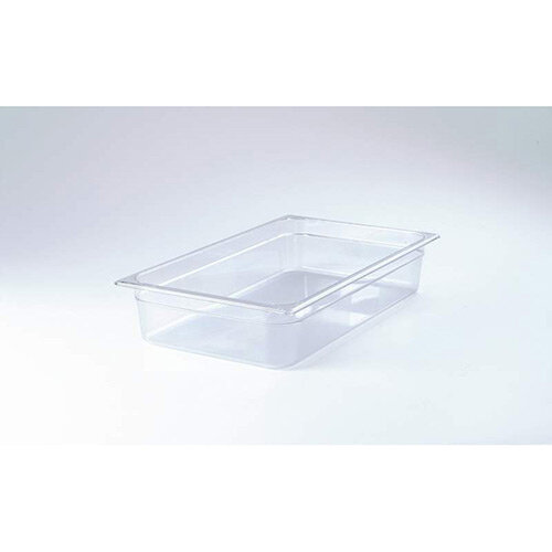 Rubbermaid 1/1 Size 200mm 25.7L Gastronorm GN Food Pan For Cold Food Clear