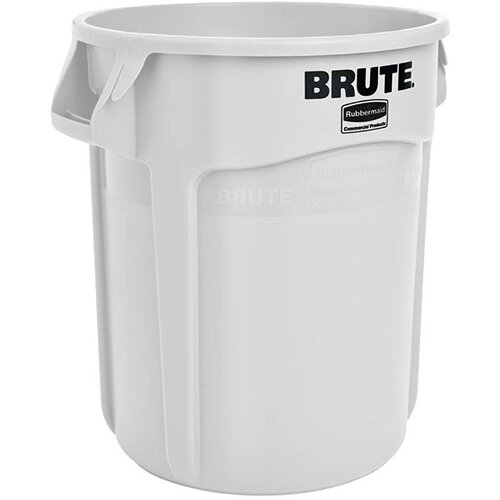Rubbermaid BRUTE 75.7L Heavy-Duty Round Waste &Utility Container White