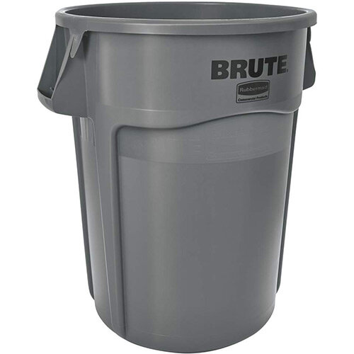 Rubbermaid BRUTE 166.5L Heavy-Duty Waste &Utility Container With Venting Channels Round Grey
