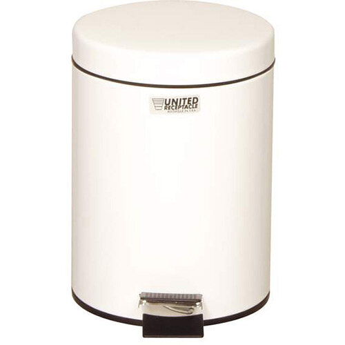 Rubbermaid Small Pedal Bin 5.6L White