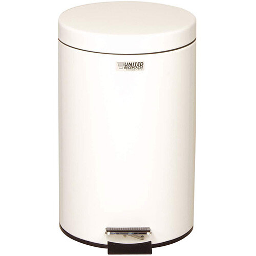 Rubbermaid Small Pedal Bin 13.2L White