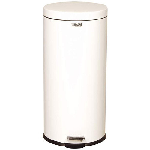 Rubbermaid Small Pedal Bin 30.3L White