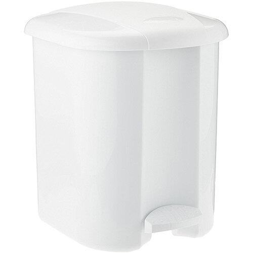 Rubbermaid Vanity Pedal Bin 15L With Liner White